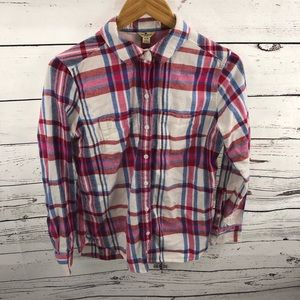 Woolrich Long Sleeve Plaid Flannel Shirt Size M